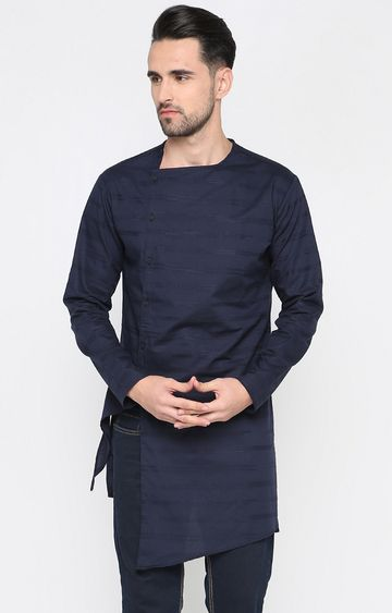 Showoff | Navy Striped Kurta