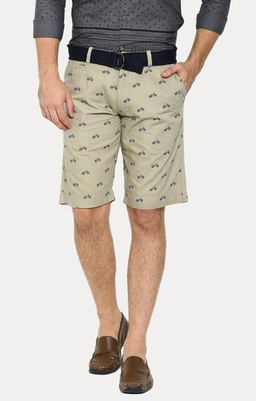 Showoff | Beige Printed Shorts