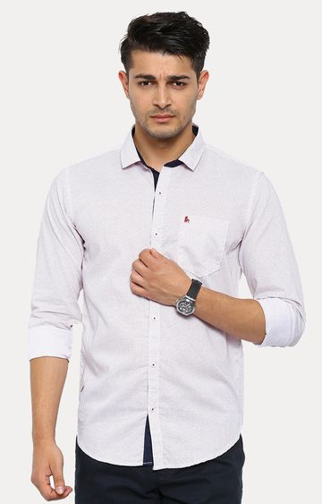Showoff | White Patterned Casual Shirt