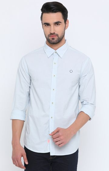 Showoff | White Solid Casual Shirt