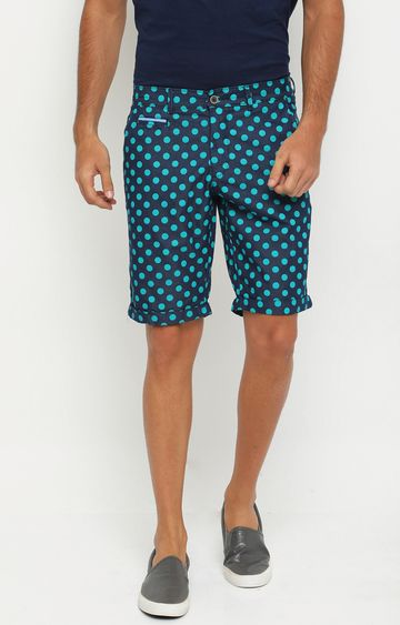 Showoff | Blue Printed Shorts