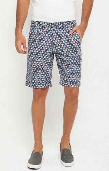 Showoff | Blue Printed Shorts