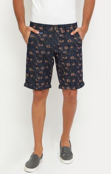 Showoff | Brown and Navy Printed Shorts