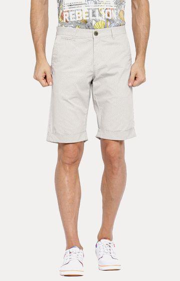 Showoff | White Patterned Shorts