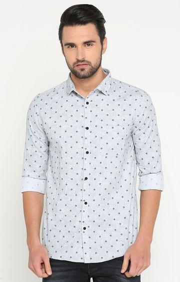 Showoff | Grey Printed Casual Shirt