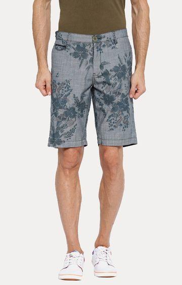 Showoff | Navy Blue Printed Shorts