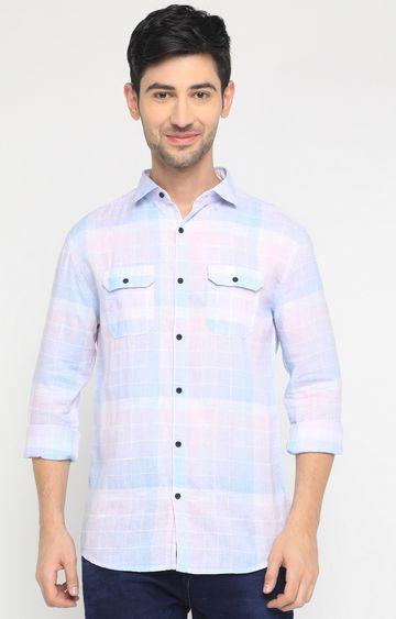 Showoff | Pink Checked Casual Shirt