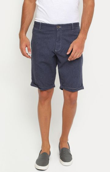 Showoff | Blue Solid Shorts
