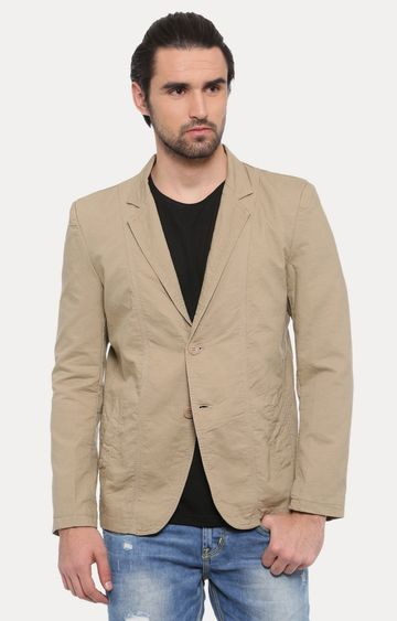 Showoff | Khaki Solid Blazer