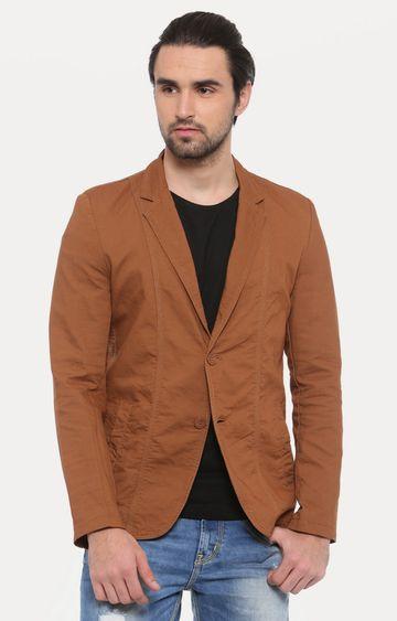 Showoff | Brown Solid Blazer