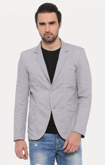Showoff | Grey Solid Blazer