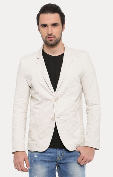 Showoff | Cream Solid Blazer