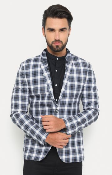 Showoff | Grey Checked Blazer