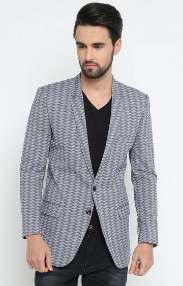 Showoff | Grey Printed Blazer
