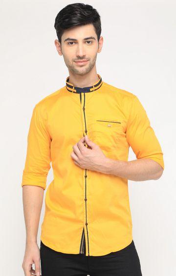 Showoff | Yellow Solid Casual Shirt