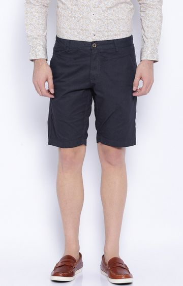 Showoff | Navy Solid Shorts