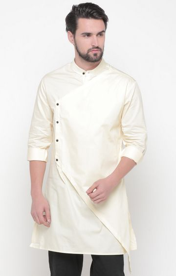Showoff | Yellow Solid Kurta
