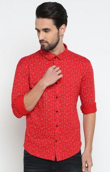 Showoff | Red Printed Casual Shirt