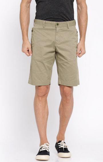 Showoff | Beige Printed Shorts