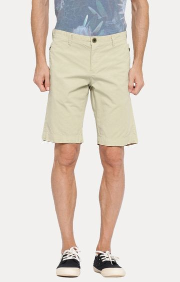 Showoff | Beige Solid Shorts