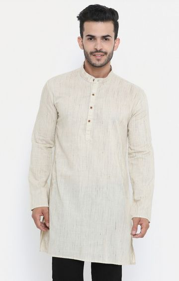 Showoff | Cream Melange Kurta