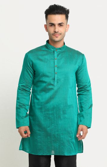 Showoff | Green Solid Kurta