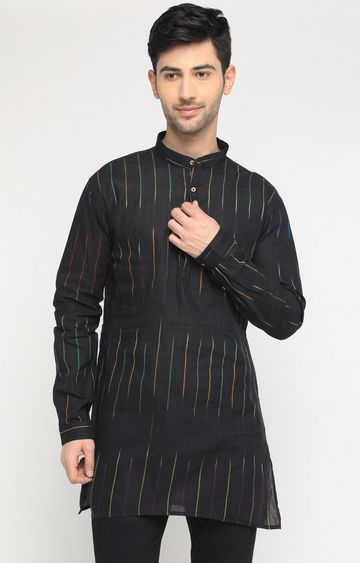 Showoff | Black Striped Kurta