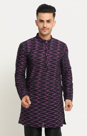 Showoff | Black Printed Kurta