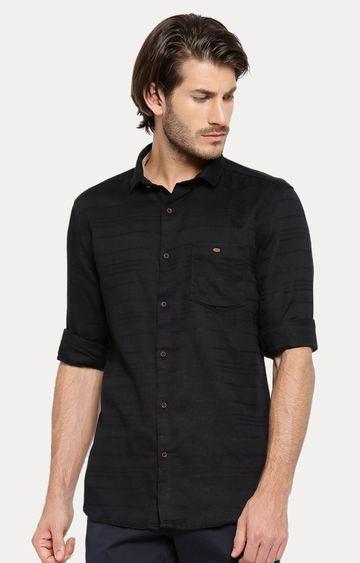 Showoff | Black Striped Casual Shirt