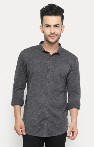 Showoff   Grey Melange Casual Shirt
