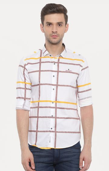 With   White Printed Casual Shirt