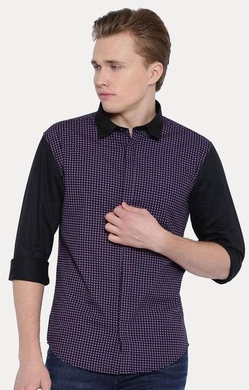 With | Black Checked Casual Shirt