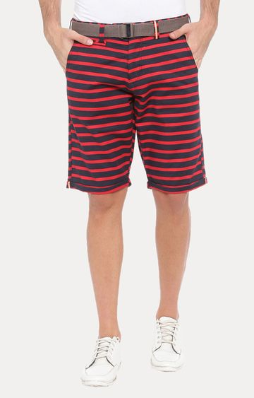 With | Red Striped Shorts