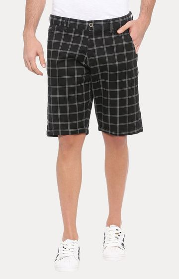 With | Black Checked Shorts