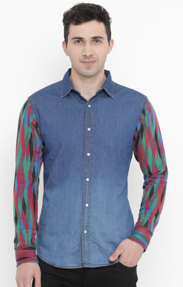 With | Multicoloured Printed Casual Shirt