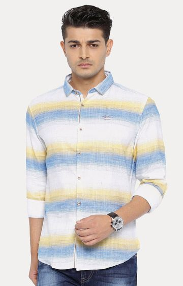 With | White Striped Casual Shirt