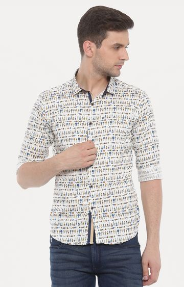 With   Multicoloure Printeded Casual Shirt