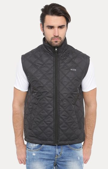 With   Black Solid Gilet