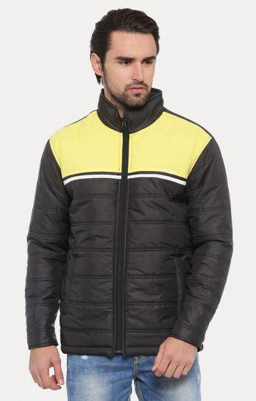 With | Black Colourblock Bomber Jacket