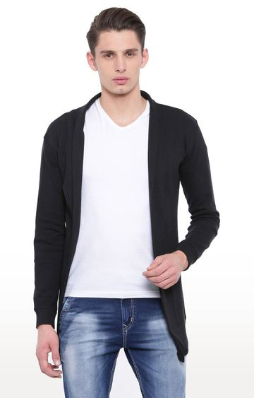 With | Black Solid Cardigan
