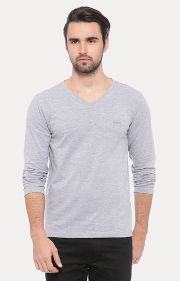 With | Grey Melange T-Shirt