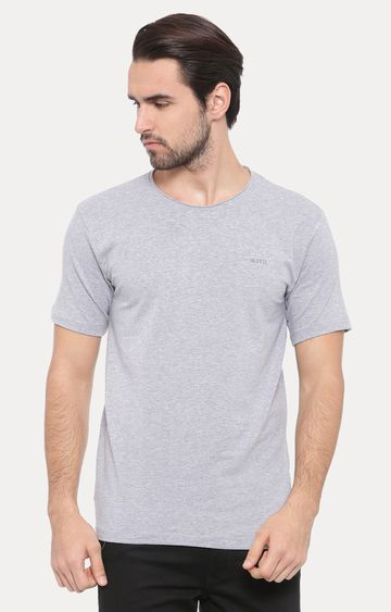 With | White Melange T-Shirt