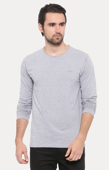 With | Grey Melange T-Shirt