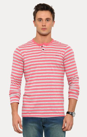 With | Pink Striped T-Shirt
