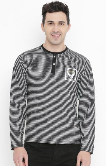 With | Black Striped T-Shirt
