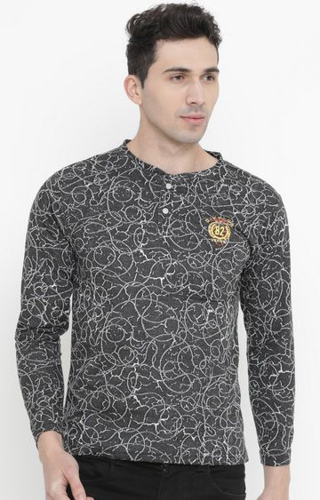 With   Black Printed T-Shirt