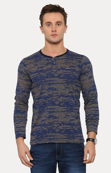 With | Yellow and Blue Printed T-Shirt