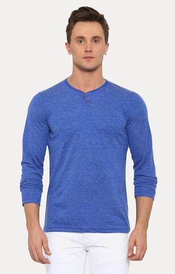 With | Blue Melange T-Shirt