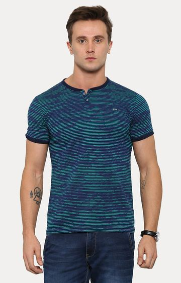 With | Green Printed T-Shirt