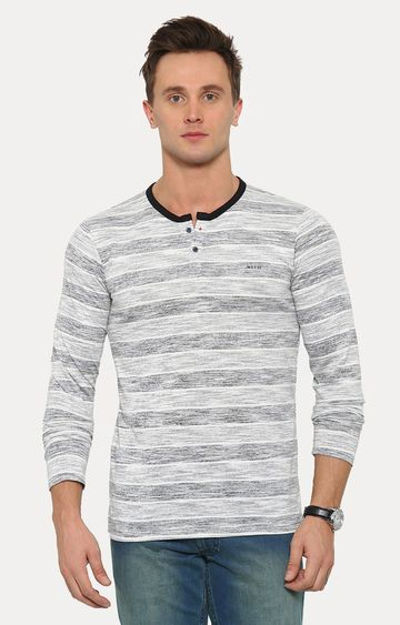 With   Black Striped T-Shirt